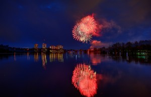 Victoria Day Weekend fireworks light up the sky at Mooney's Bay Park - May 18, 2014. Thanks TI.