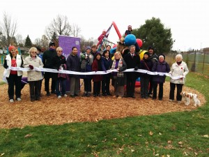 The ribbon cutting ceremony at Paget Park. Mayor Watson, Councillor McRae and members of the RPCRA and local community were present.